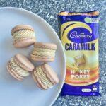 Caramilk Hokey Pokey Macarons